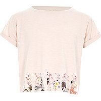 Girls RI active pink 'dance' print T-shirt