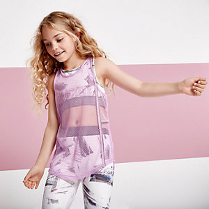 Girls RI active purple mesh tank
