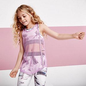 RI Active - Paars hemdje met mesh voor meisjes