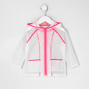 Imperméable rose transparent mini fille
