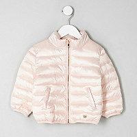 Mini - Roze hoogglanzend gewatteerd jack voor meisjes