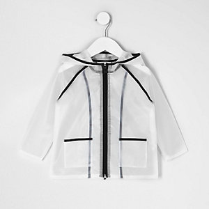 Imperméable noir transparent mini fille