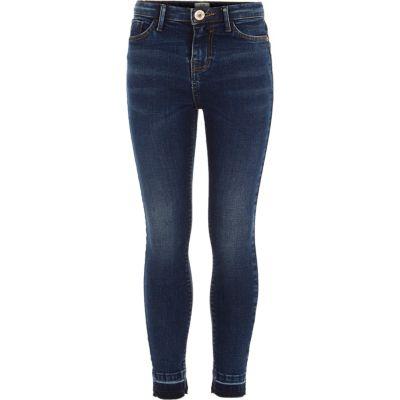 Amelie Blauwe jeans met losse zoom voor meisjes