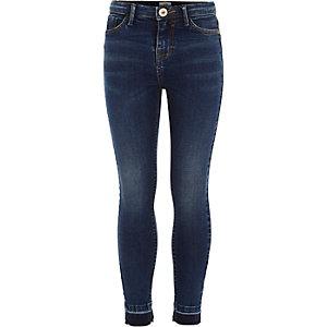 Amelie - Blauwe jeans met losse zoom voor meisjes