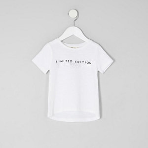 T-shirt « limited edition » blanc mini fille