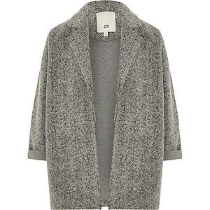 Blazer en jersey texturé gris pour fille