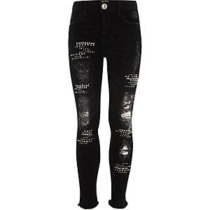 Amelie – Schwarze Skinny Jeans im Used-Look