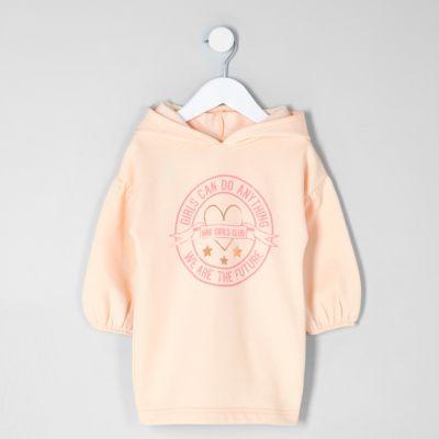 River Island Robe sweat «girls can» rose mini fille