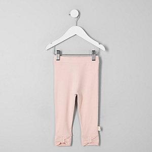 Mini - Roze legging met strik op de enkels voor meisjes