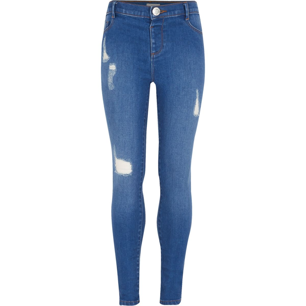 girls blue molly distressed jeggings jeggings jeans