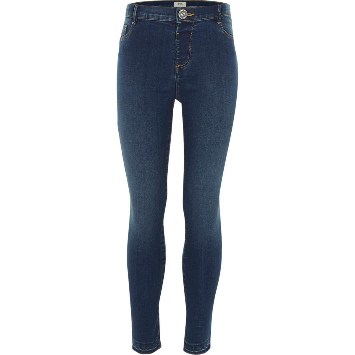 Girls blue Molly high waisted skinny jeans