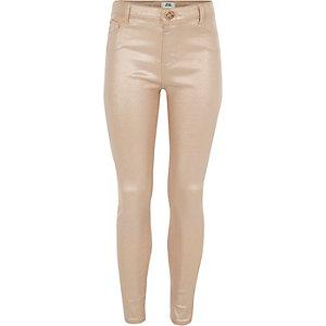 Molly – Pinke, glitzernde Skinny Jeans