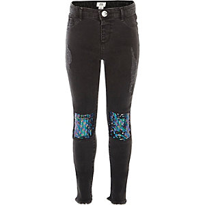 Molly – Schwarze, paillettenverzierte Jeggings