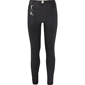 Molly – Schwarze, glitzernde Jeggings