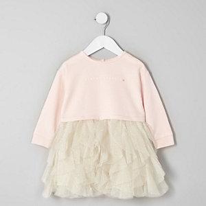 Robe «sparkle» avec jupe à volants en tulle mini fille