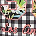 Girls gingham print 'Los Angeles' T-shirt