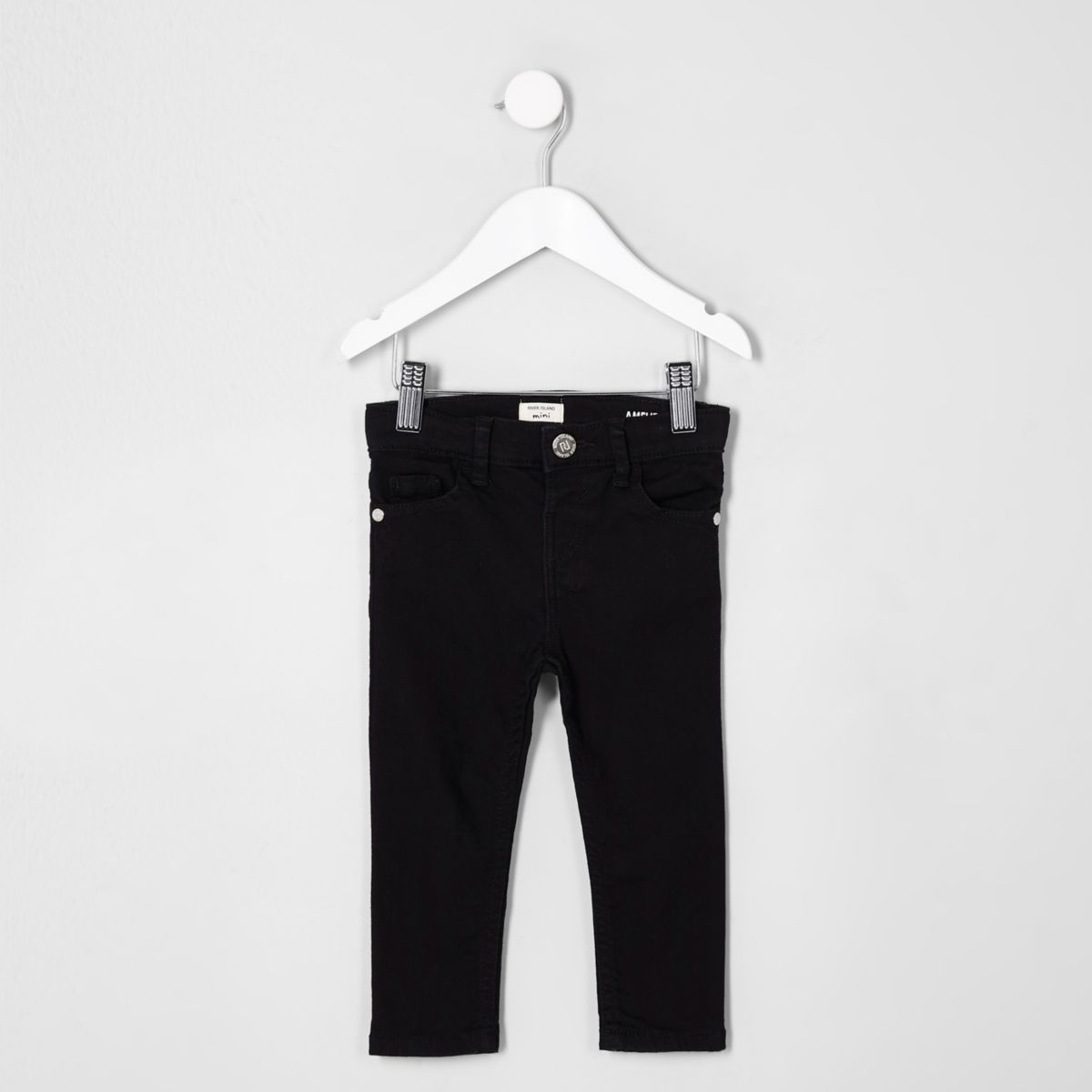 Mini girls black super skinny Amelie jeans