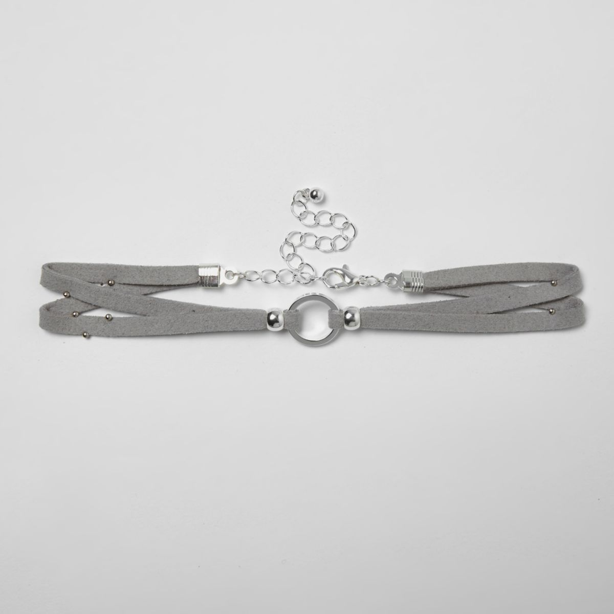Girls grey circle choker