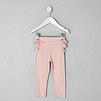 MiMini - Roze legging met ruches achter voor meisjes