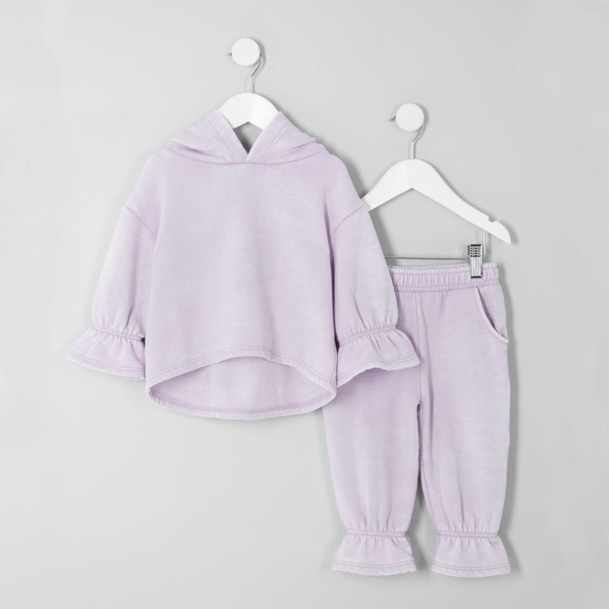 Mini girls lilac hoodie and joggers outfit