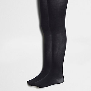 Lot de collants en maille noirs pour fille