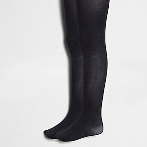 Multipack zwarte gebreide maillots voor meisjes