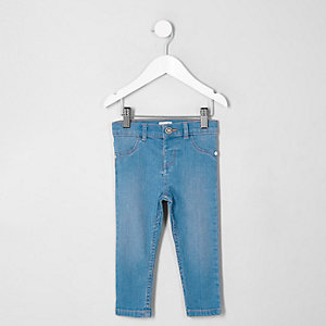 Mini girls blue Molly jeggings