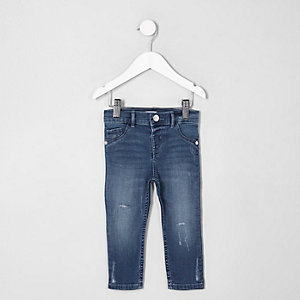 Mini - Blauwe distressed Molly jegging