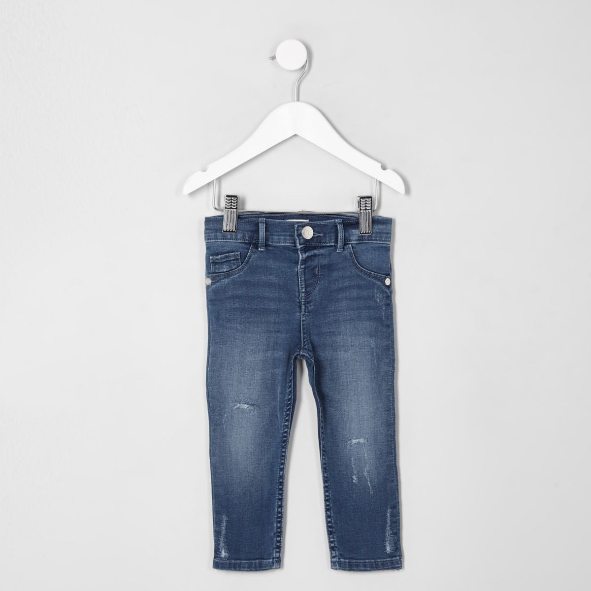 Mini girls blue Molly distressed jeggings
