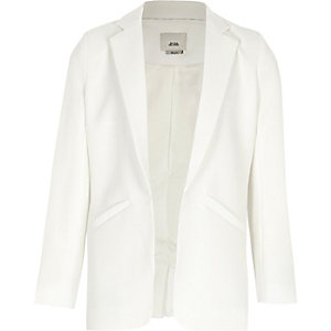 Girls white blazer