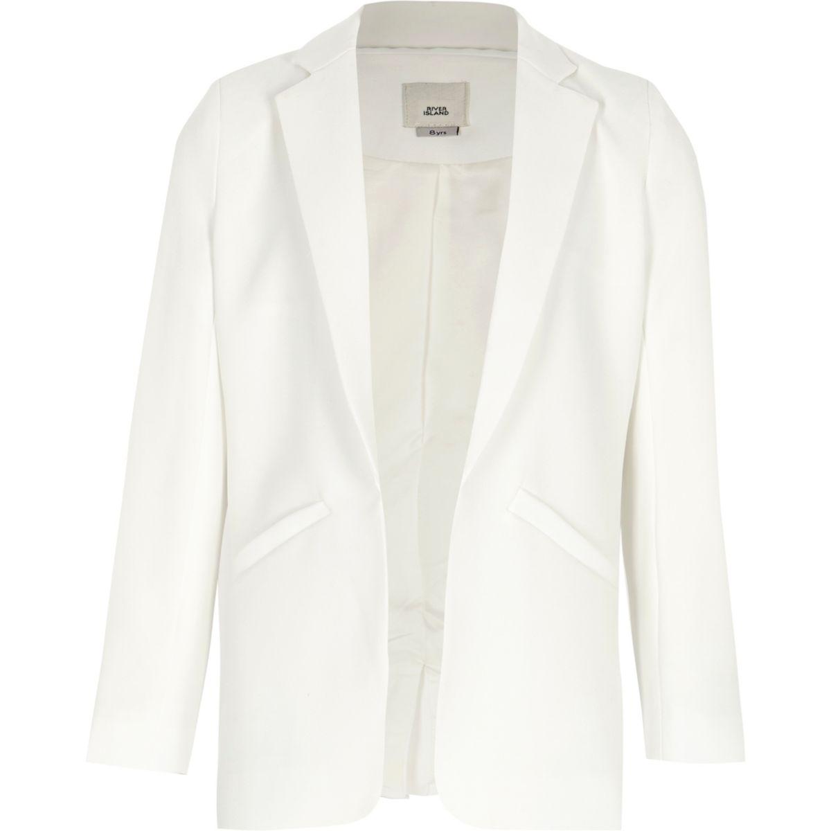 Girls white blazer