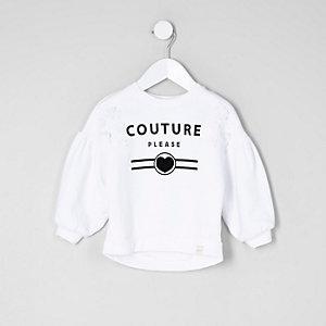 """Weißes Sweatshirt mit """"Couture""""-Schriftzug"""