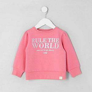 """Pinkes Sweatshirt """"Rule the world"""""""