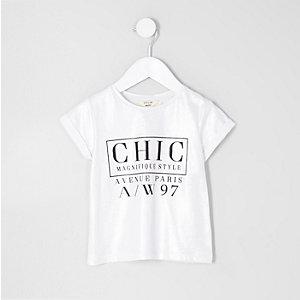 T-shirt imprimé «chic» argenté métallisé mini fille