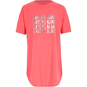 Girls pink 'leave me alone' night dress