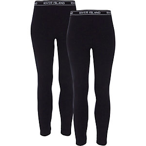 Lot de leggings noirs pour fille
