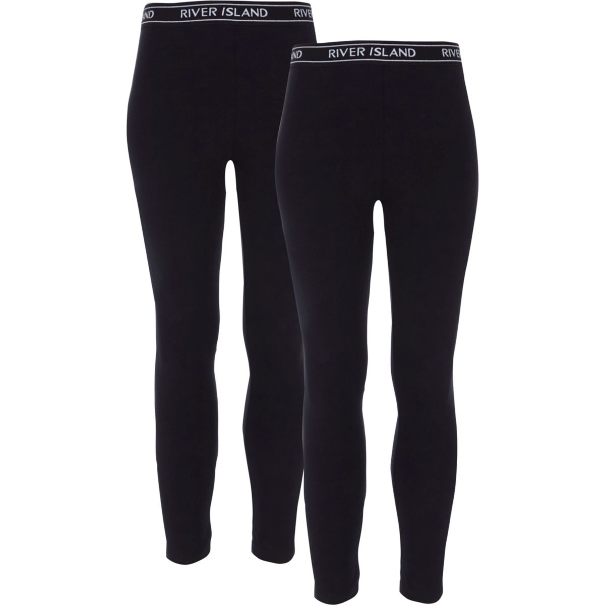 Girls black leggings pack