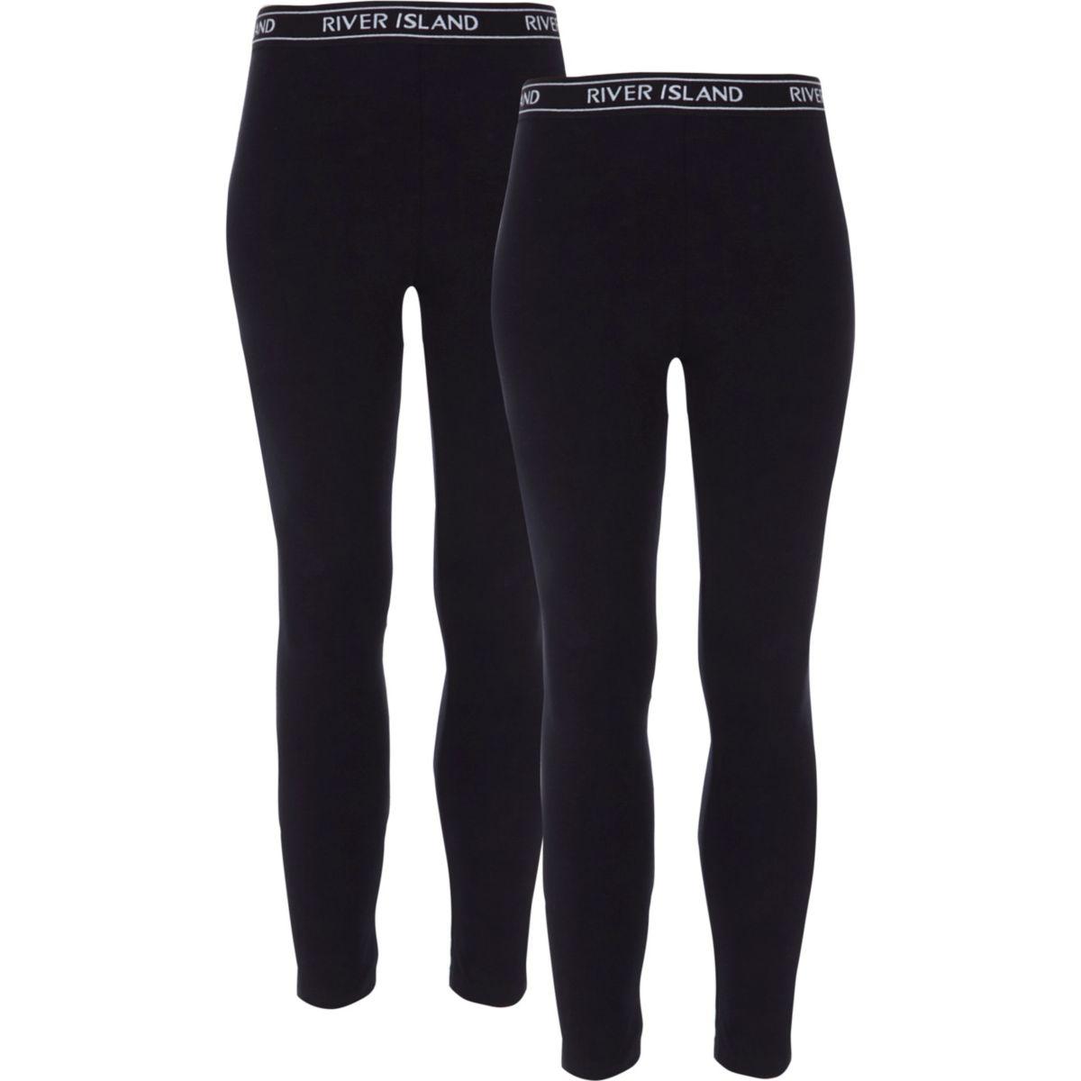 Lot de leggings noirs pour fille
