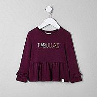 Mini girls 'fabuluxe' frill long sleeve top