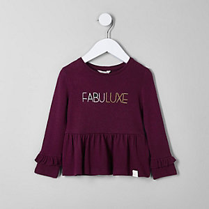 Mini girls 'fabuluxe' frill long sleeve top