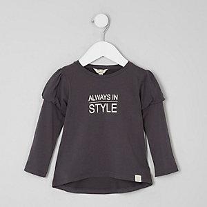 T-shirt imprimé à manches bouffantes mini fille