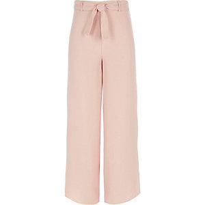 Pantalon palazzo rose fille