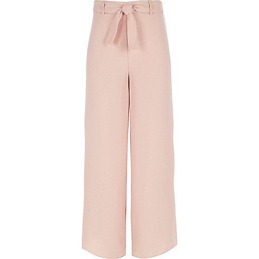 Girls pink palazzo trousers