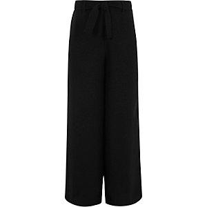 Pantalon palazzo noir pour fille