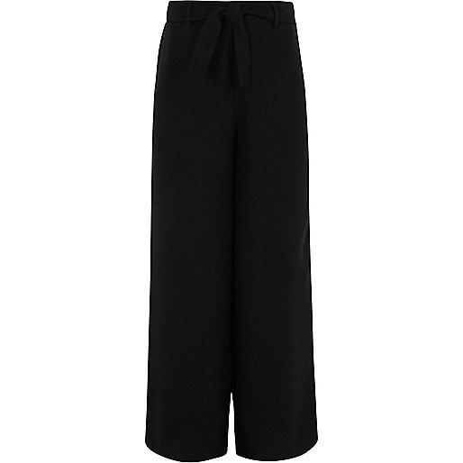 Girls black palazzo pants