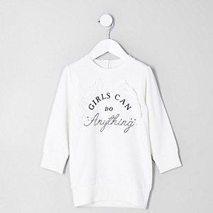 Mini - 'Girls can' sweatshirtjurk voor meisjes