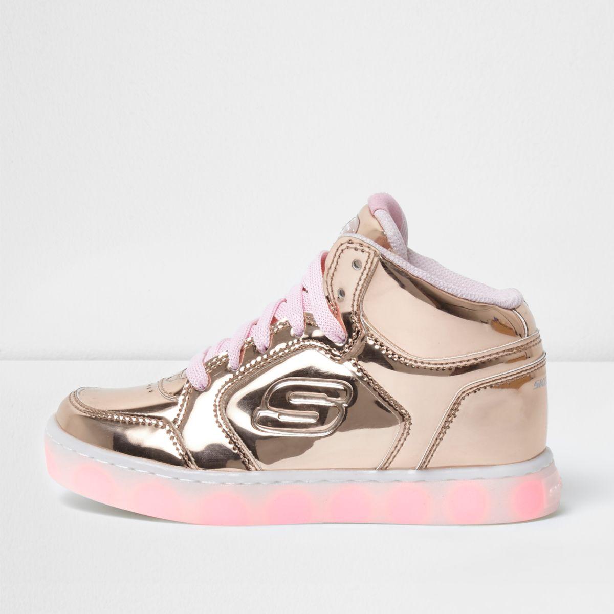 Skechers – Baskets montantes dorées fille