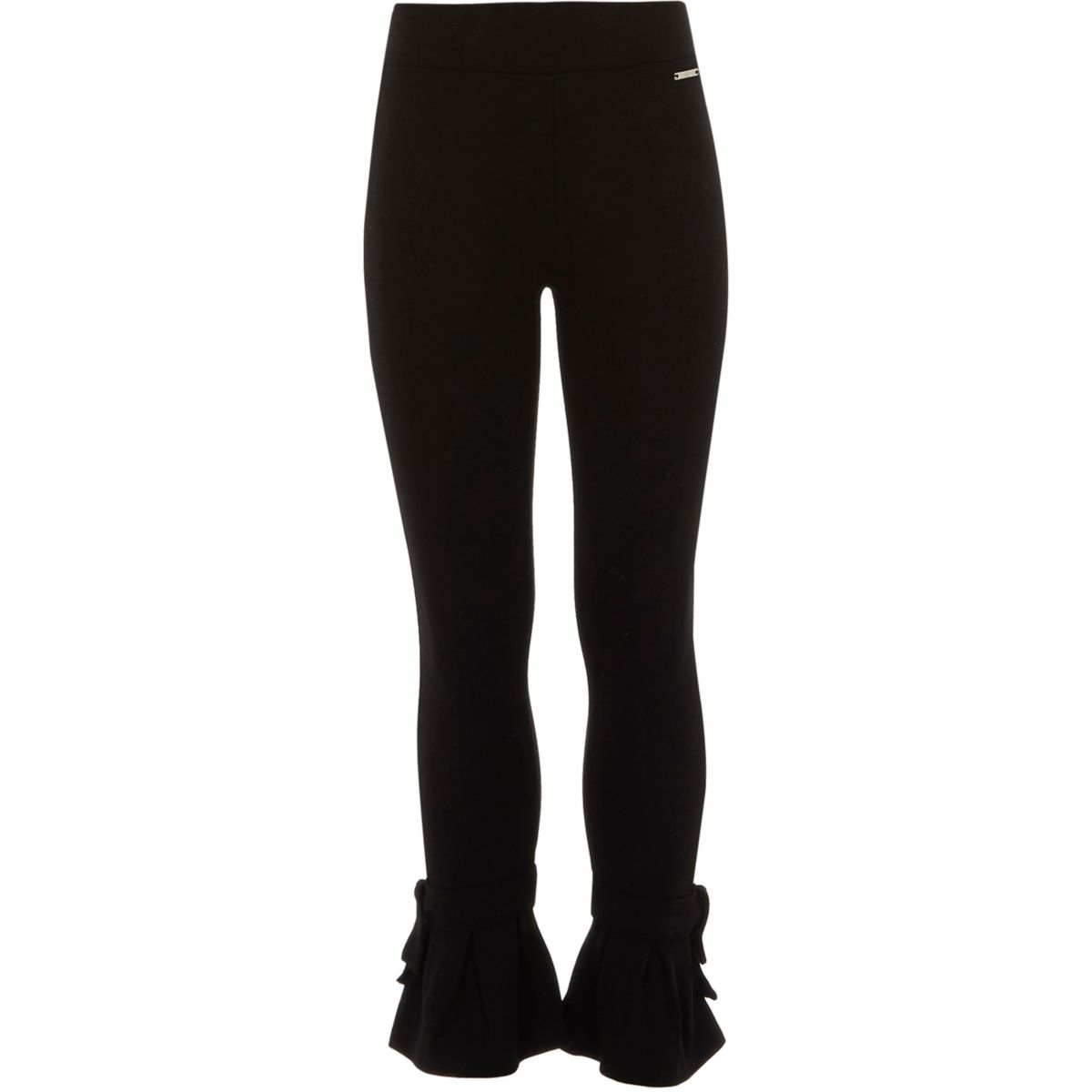 River Island Black Trousers Bow