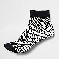 Chaussettes en résille noires pour fille