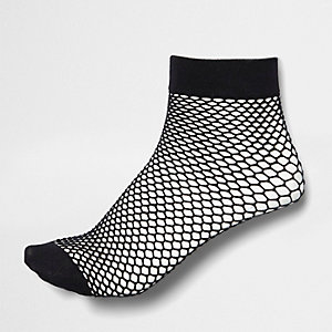 Girls black fishnet socks